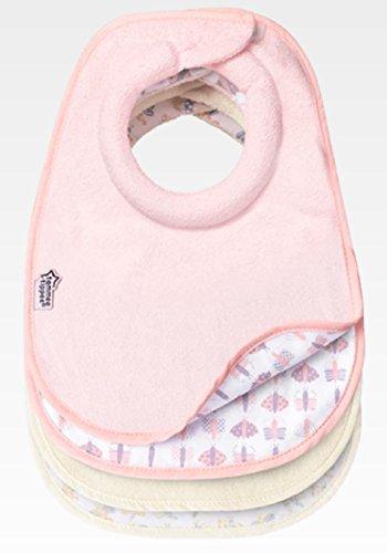 Tommee Tippee Lot de 4 Bavoirs spécial allaitement au lait maternel, Closer to Nature, pour fille
