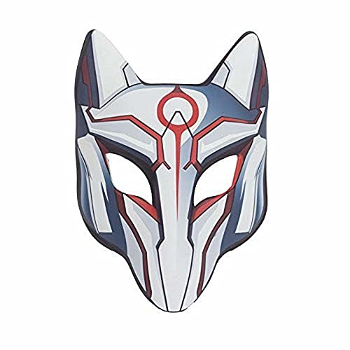 Emishin Máscara de Halloween PU Fox Mask Adult Fox Fox Full Face Mascarilla Maquillaje Dance Halloween Mask Fox Mask Mascarilla Hielo Fuego de Hielo