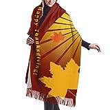 Bufandas de punto abrigos para las mujeres robó Feliz Día de Acción de Gracias Turquía Cashmere Feel Chales Manta En Silla
