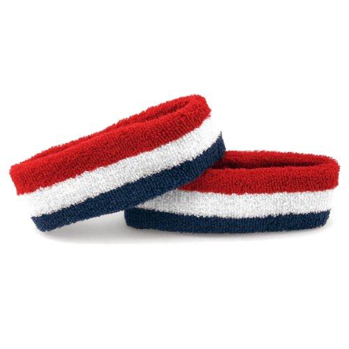 The Patriot - Terry Cloth Sweatband/Headband, True 'Merica (Red/White/Blue)