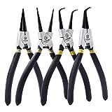 WJSX Snap Ring Pliers Set 4 X 175 mm Maniglie antiscivolo con confezione