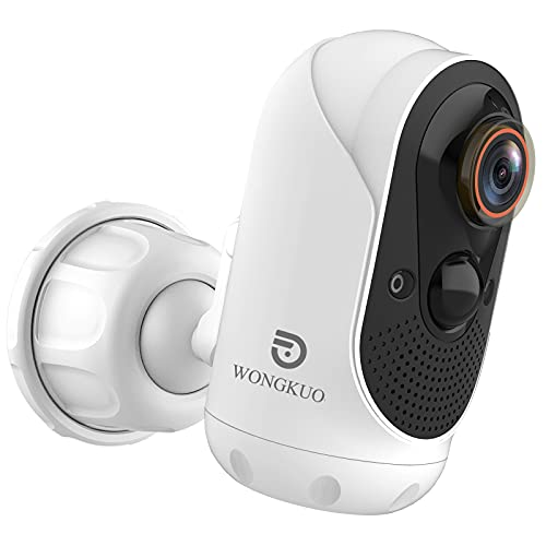 WONGKUO 2021 Upgraded Security Camera Outdoor Wireless 170 Wide Angle View...
