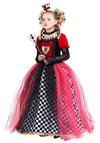 Ravishing Queen of Hearts Costume for Girls X-Small