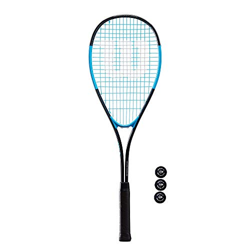Wilson Ultra 300 - Raqueta de squash y 3 pelotas de squash