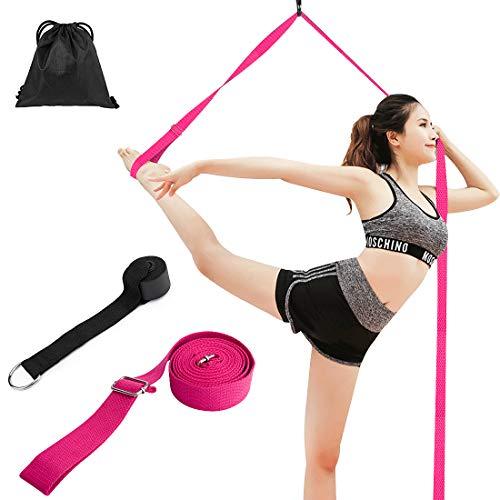 Correa de Yoga, SenPuSi 3m Cinturón Ballet Yoga elástico cinturón Equipo Cinta elástica para la Pierna de Estiramiento para Entrenamiento para Baile, Ballet, Fitness, Entrenamiento, Taekwondo