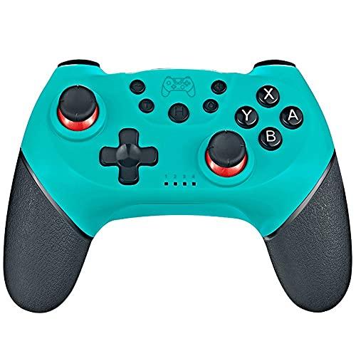 WXH-66 Sefitopher Wireless Pro Controller para Nintendo Switch y Switch Lite, Controlador Bluetooth con 6 sensores de Eje de giroscopio y Turbo (Color : C)
