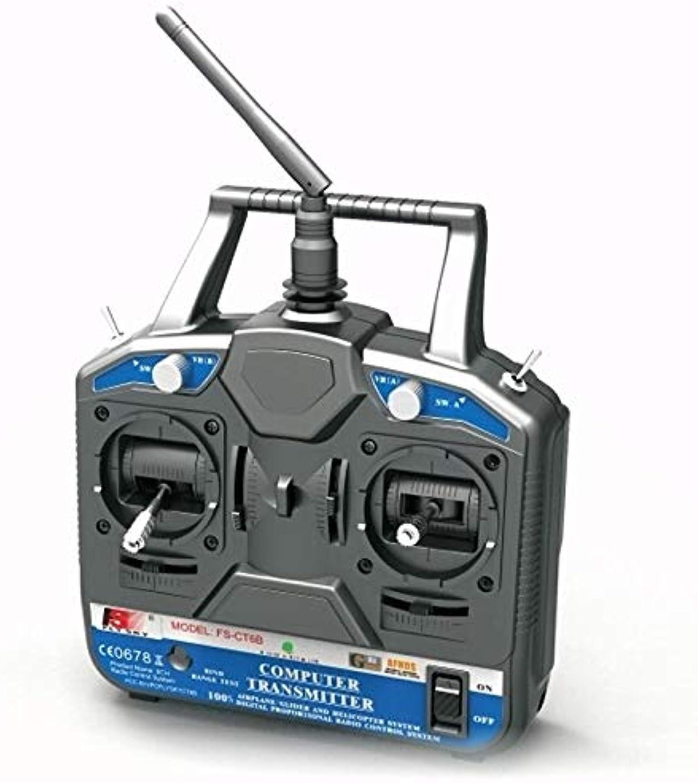 Laliva Flysky FSCT6B FS Fly Sky 6CH 2.4G RC Transmitter FSR6B Receiver Remote Controller 6 Channel Radio System  (color  Left Thredtle)