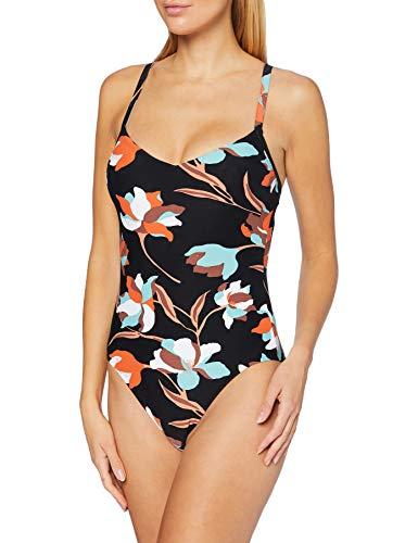 Seafolly Damen Flower Market Sweetheart Maillot Badeanzug, Schwarz (Black Black), 42 (Herstellergröße: 16)
