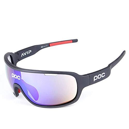 applemi Gafas De Ciclismo Deportivas Gafas De Sol Polarizadas, Lentes Intercambiables, ProteccióN Uv 400, Gafas De Sol Deportivas Antivaho Hd Para Ciclismo, Pesca, Carrera, ConduccióN, Golf-A