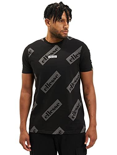 ellesse Herren Sete-T-Shirt, Schwarz, L