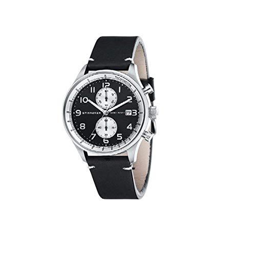 Orologio Uomo Chrono Spinnaker SP-5050-01 doppio Cinturino Pelle e Nato...