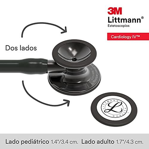 3M Littmann Cardiology IV Diagnostic Stethoscope, Smoke-Finish Chestpiece, Black Tube,  Smoke Stem and Headset, 27 inch, 6162