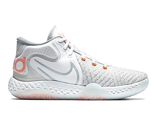 Nike KD Trey 5 VIII Basketballschuhe Farbe Weiß Silber Orange, Weiß - Weiß Orange Silber - Größe: 45.5 EU
