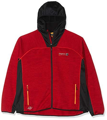 DEPROC-Active Veste polaire ELMVALE - Coupe-vent et respirante - Pour femme - Rouge piment - Taille 48