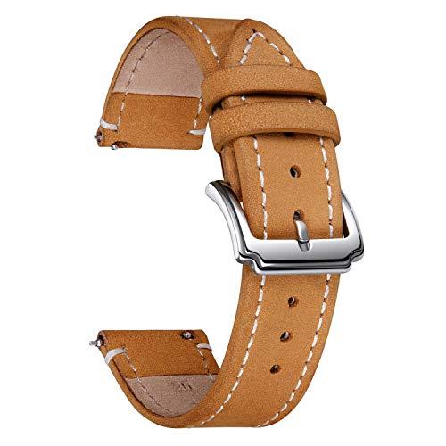 Lanzamiento rápido Crazy Horse Cuero Reloj de la banda Reemplazo de la correa de reloj grueso para hombres Mujeres 16mm 18mm 20mm 22mm 24 mm negro marrón azul amarillo gris rojo correas de reloj JIAOX