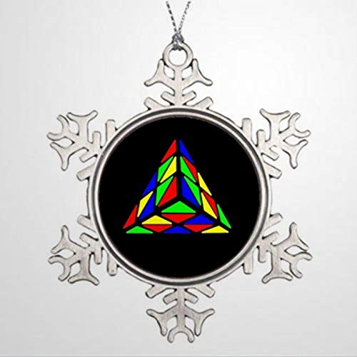 DONL9BAUER Adorno de Navidad Pyraminx Cude Pintura Muñeco d