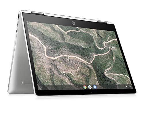 HP Chromebook x360 12b-ca0000ng (12 Zoll / HD+ IPS Touch) 2in1 Chromebook (Chrome OS, Intel Celeron N4000, 64GB eMMC, inkl. 100GB Speicher bei Google One für 1 Jahr, Intel HD Grafik) silber
