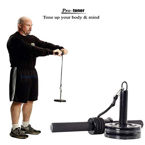 Protoner Wrist Roller Forearm Wrist Exercise Hand Strengthener