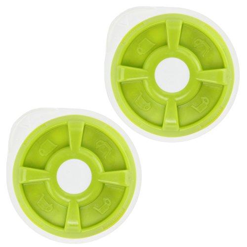 SPARES2GO Warmwasser-T-Scheibe für Bosch Tassimo T12 T20 T32 T40 T42 T65 T85 oder VIVY Kaffeemaschine (grün, 2 Stück)