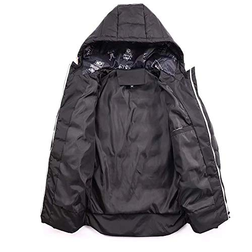 HaiDean Heren Hooded Winter Jacket Puffer Jacket Moderne Casual Gewatteerde Gewatteerde Jas Sweat Jas Katoen Parka Waterdicht Zwart Bovenkleding Anorak Jas Warming Cardigan