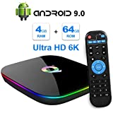 Sidiwen Android 9.0 TV Box Q Plus 4GB RAM 64GB ROM H6 Quad Core 64 Bit CPU WIFI...
