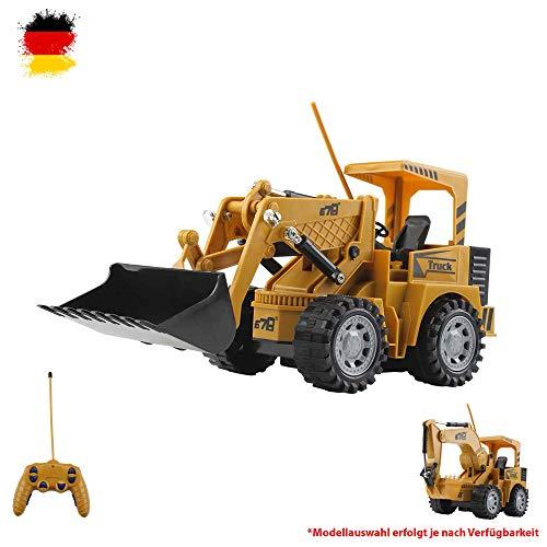 Himoto HSP RC-Baustellenfahrzeuge-RC-Ferngesteuerter-Schaufel-Bagger-Radlader-Baustellen-Fahrzeug-Modell, Komplett-Set inkl. Fernsteuerung, Akku und Ladekabel