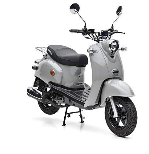 Nova Motors Retro Star ie 50 betongrau Euro 4 45km/h Motorroller - fahrbereite Lieferung inklusive