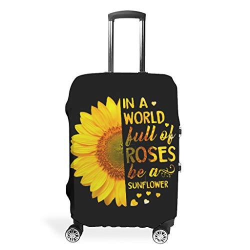 Sunflower Reisegepäckhülle, strapazierfähig, waschbar, passend für 45,7 - 81,3 cm, für Koffer mit Rädern,...