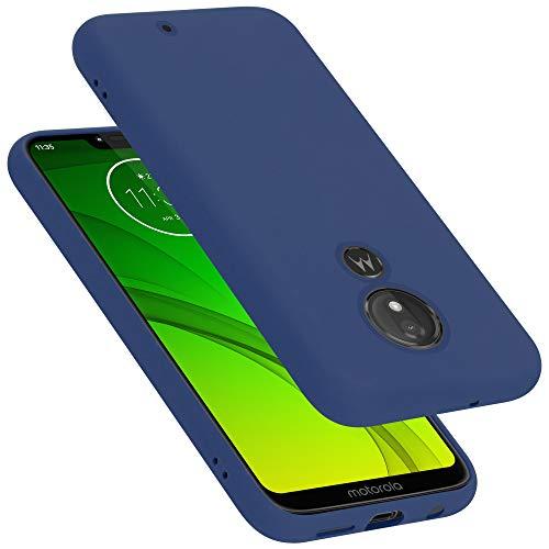 Cadorabo Funda para Motorola Moto G7 Plus EU Version en Liquid Azul - Cubierta Proteccíon de Silicona TPU Delgada e Flexible con Antichoque - Gel Case Cover Carcasa Ligera