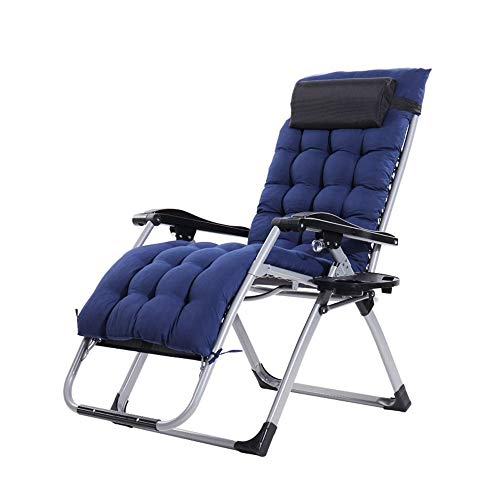 ZQS Folding Bed Chair Luxury Outdoor Folding Recliner Beach Chair Portable Folding Bed Office Backrest Siesta Chair Leisure Bed Single Bed, 2 Styles Indoor and Outdoor can (Color : B)