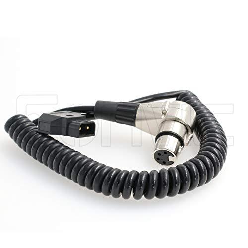 Eonvic D-Tap Macho a 4 Pines XLR Hembra ángulo Recto Adaptador de Cable de alimentación para videocámara DSLR
