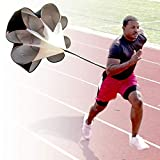 StillCool Running Speed Training, 56 inch Speed Drills Resistance Parachute Running Sprint Chute Soccer Football Sport Speed Training Black
