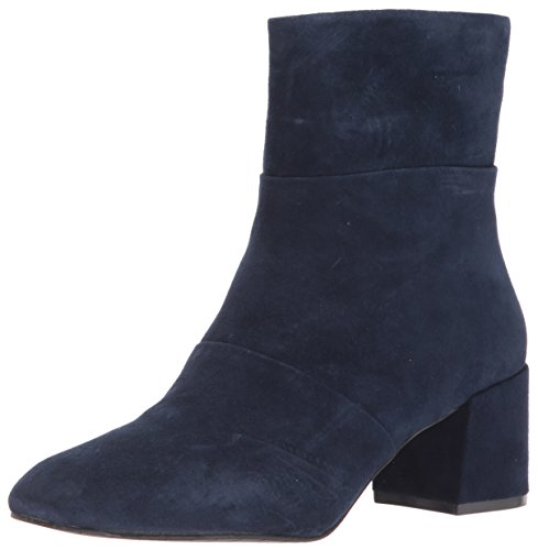 Kenneth Cole New York Women's Eryc Low Block Heel Ankle Bootie Square Toe, Navy, 8.5 M US