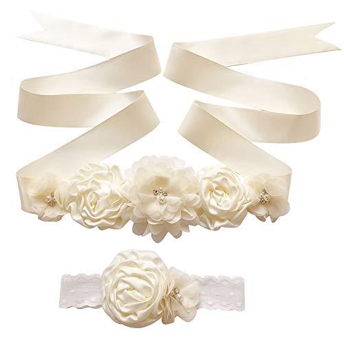 Amorar Cinta para vestido para mujer chica flores cinta para el pelo...