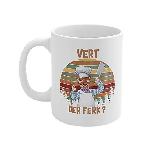 Vert Der Ferk Chef Coffee Mug Cup, Funny Swedish Sunset Vintage Mugs, Vurt Da Furk Mug Tumbler Gift for chef master mug