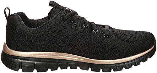 Skechers Sport Womens Graceful GET Connected Sneakers Frauen Schwarz, Schuhgröße:39.5 EU