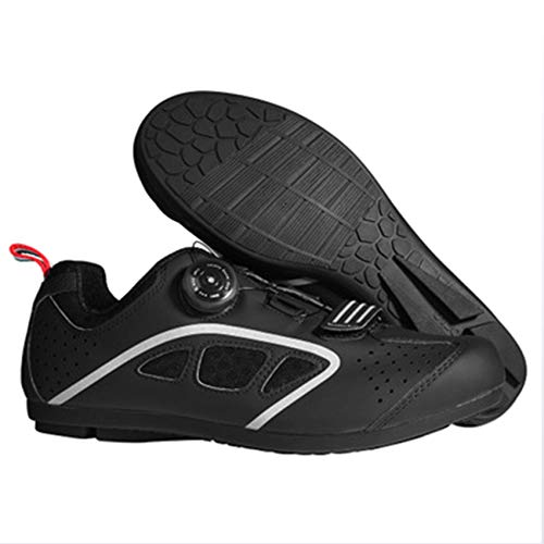 XYHLM Calzado Ciclismo Luminosas Zapatillas de Bicicleta Carretera Zapato cálidas, Resistentes al...