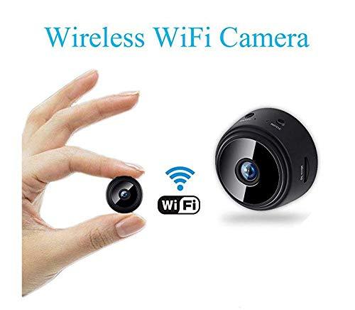 Mini cámara inalámbrica WiFi - Seguridad doméstica HD 1080P Micro DVR - Control Remoto de visión Nocturna (cámara con Tarjeta de 32G TF) (Black, Microcámara)