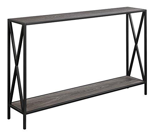 Mejor Sauder North Avenue Sofa Table, Smoked Oak finish crítica 2020