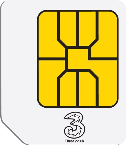 3 Originele Broadband Ready to Go Preloaded Data Sim-kaart voor mobiele apparaten - PARENT ASIN, Micro SIM, 1GB