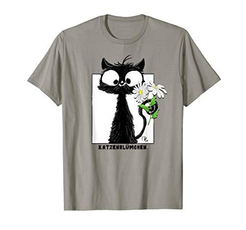 Schwarze Katze Katzenliebhaber Katzen Miau