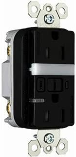 Legrand - Pass & Seymour 1595NTLTRBKCC4 Gfci Receptacle/Nightlight Tamper Resistant 15-Amp/125-volt