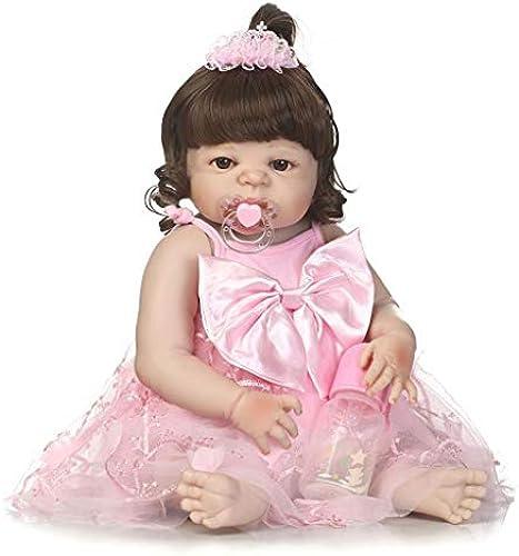 Lsrryd Babypuppen Vinyl Silikon Wiedergeboren Puppe Neugeborenes Puppen Simulation Baby Vollkleber über mädchen Spielzeug (Farbe   Blau Eye, Größe   5cm)