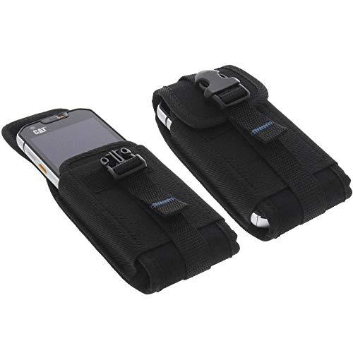 foto-kontor Tasche für CAT S60 Outdoor Hülle Metallclip Gürtelschlaufe mit Sicherheitsclip