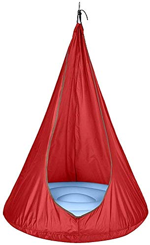 Family Garden Outdoor Hanging Chair Hanging Chair Swing Hammock Chair for Children,Red