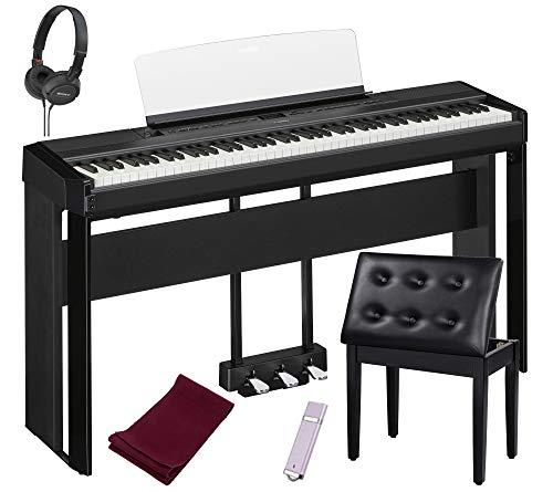 Yamaha P515B piano digital de 88 teclas, negro con el...