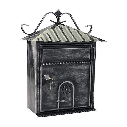ZWH-Briefkasten Post Box European Newspaper Box Villa Haus Wand-Mailbox Im Freien Garten Einfache Kreative Kleines Haus Letterbox