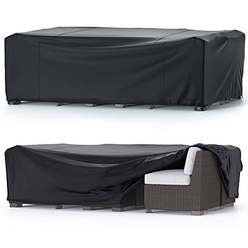 Trunk Garden Furniture Covers Waterproof, Table Cover 600D Heavy Duty...