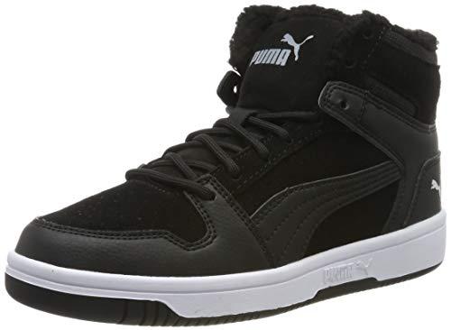 Puma Unisex Rebound Layup Fur SD Jr Sneaker, Black White, 39 EU