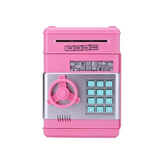 JJZXD Alcancía automática ATM Contraseña Caja de Efectivo Caja de depósito de Monedas Caja de Seguridad del Banco Billetes Regalo de cumpleaños para niños